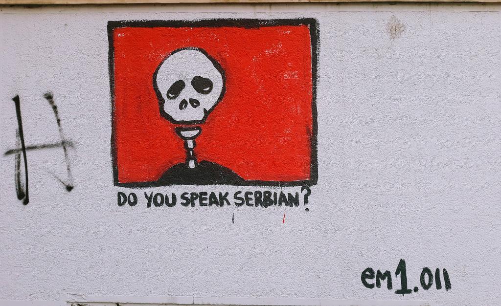 Grafit, Belgrade: Do you speak Serbian?. em1.011. Vračar.