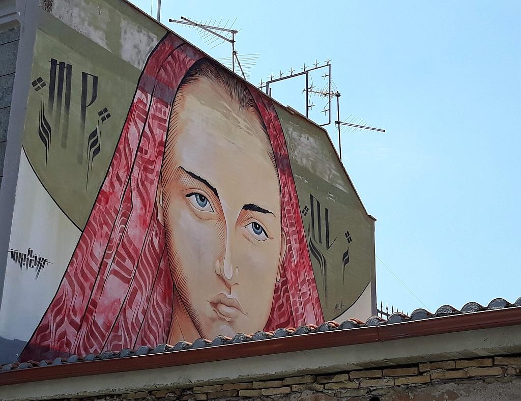 Grafit, Prenestino: Tribute to Gospel. mural. pigneto. Rome. Italy.