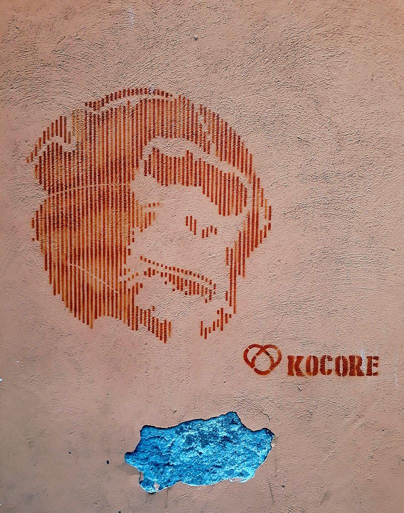 Stencil, Prenestino: Kocore. Kocore. Rome. Italy.