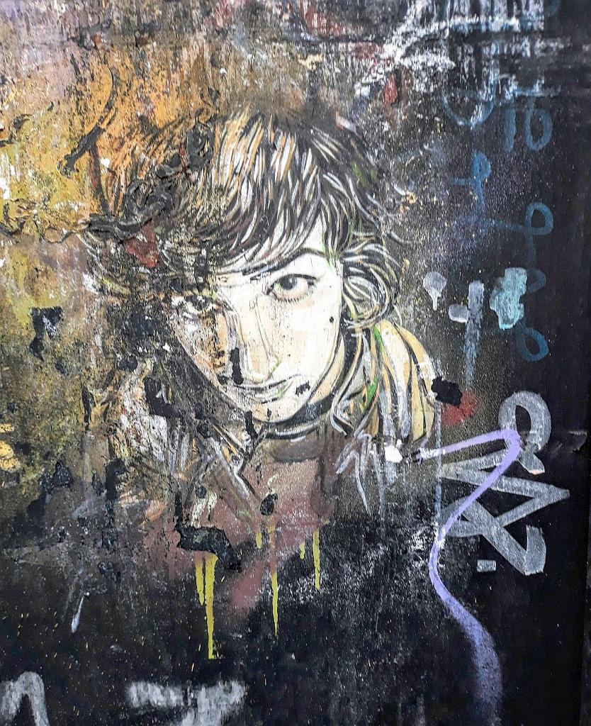 Stencil, Prenestino: just a boy. pigneto. Rome. Italy.