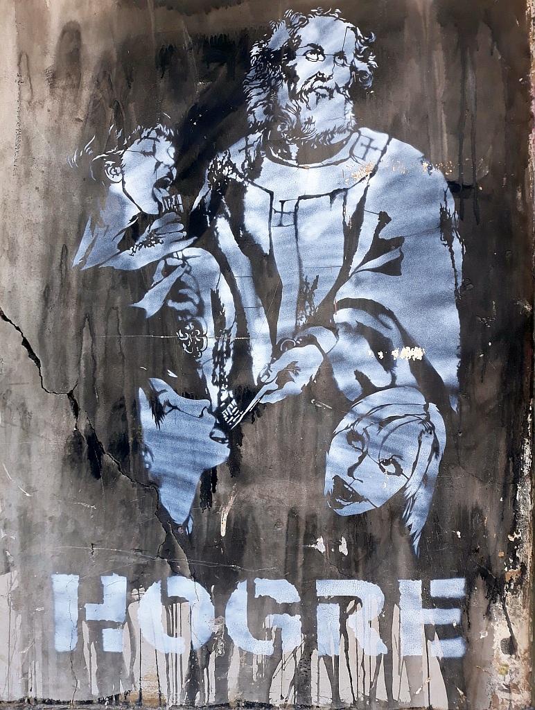 Stencil, Monti: Hogre. Hogre. Rome. Italy.