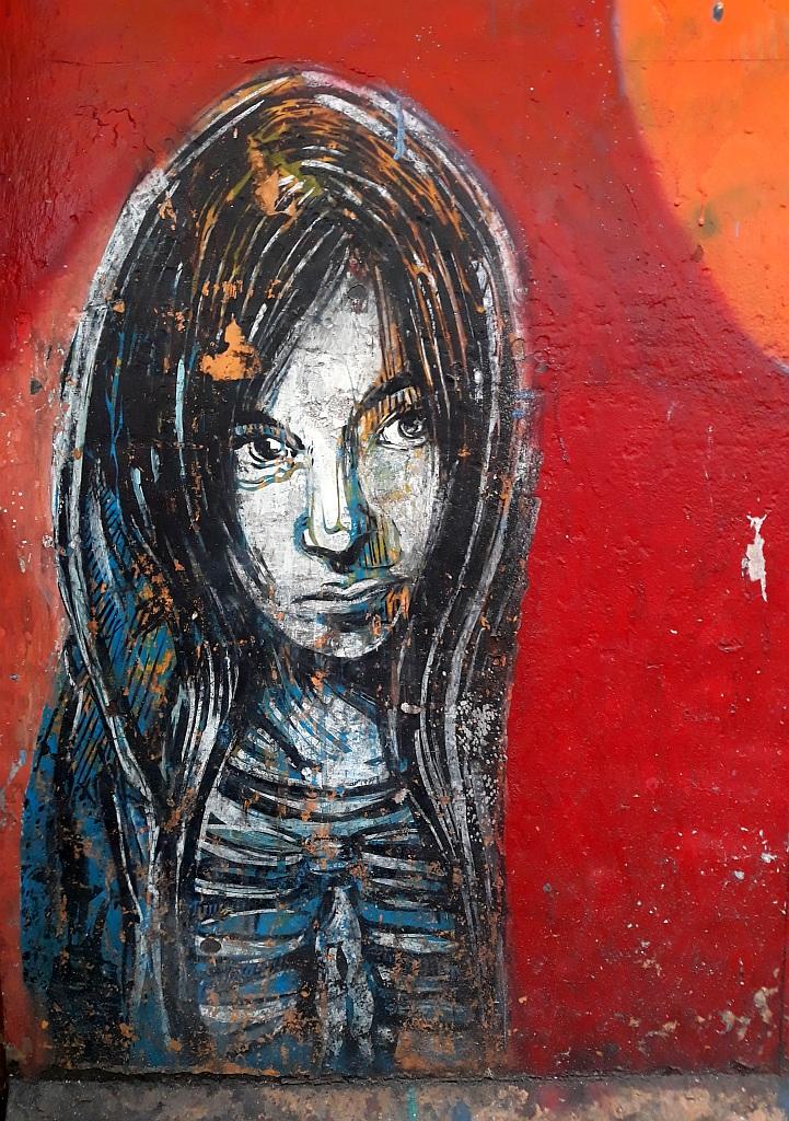 Stencil, Prenestino: empty. Rome. Italy.