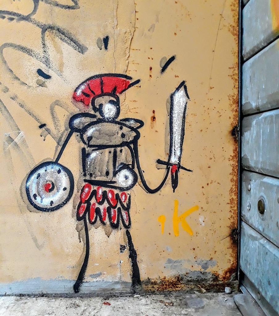 Grafit, Prenestino: empire. Exit.Enter.K. Rome. Italy.