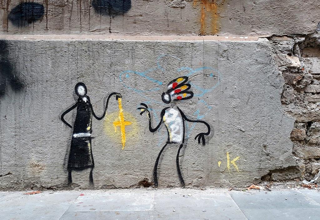 Grafit, Prenestino: Manipulation. Exit.Enter.K. Rome. Italy.