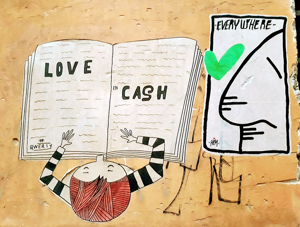 Paste-UP, Prenestino: Love in Cash. Project Qwerty.