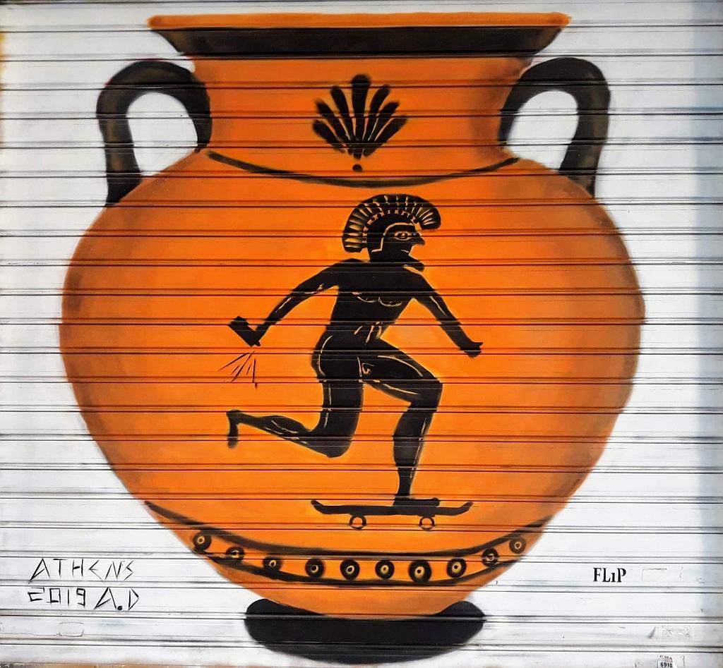 Grafit, Athens: Greek Art. Graffiti. Flip. athens.