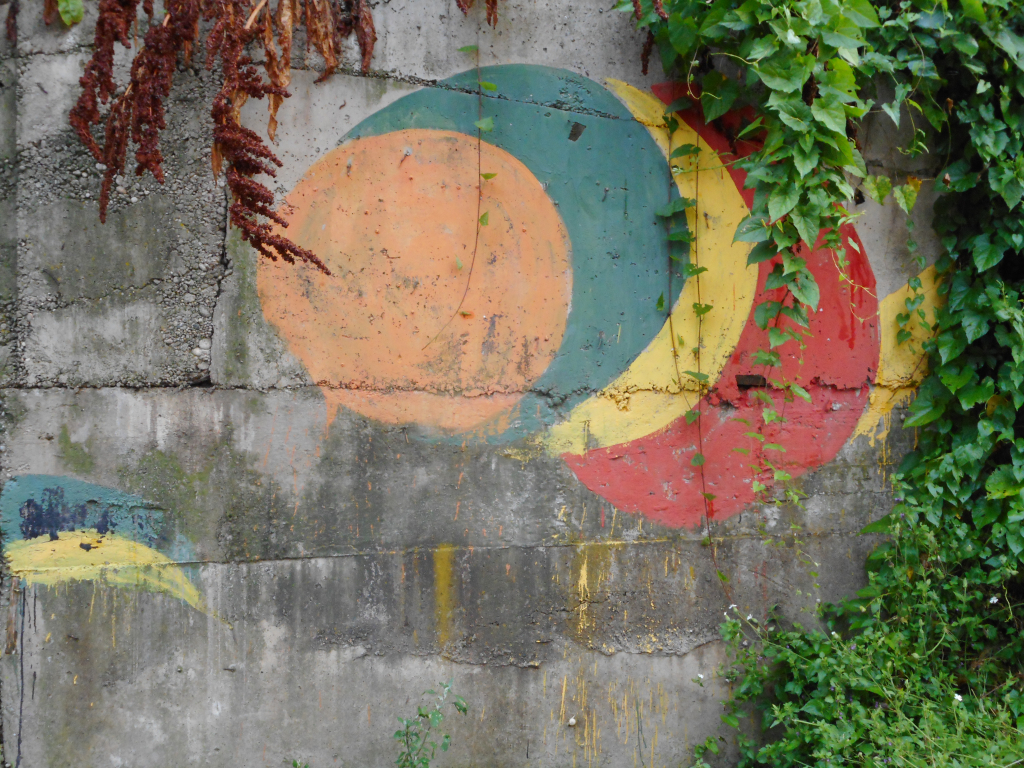 Grafit, Ljubovija: Prase, oko, puž. grafit graffiti street art beograd belgrade stencil marker.