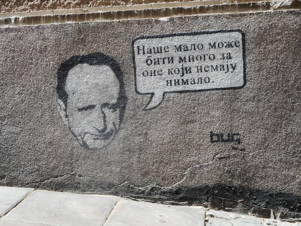 Stencil, Stari Grad: Malo je mnogo. grafit graffiti street art beograd belgrade stencil marker paste ulična umetnost sprej.
