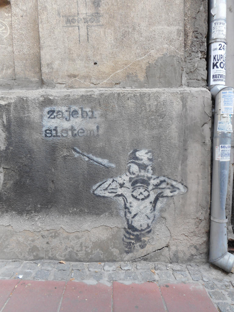 Stencil, Dorćol: Sistem. grafit graffiti street art beograd belgrade stencil marker paste ulična umetnost sprej.