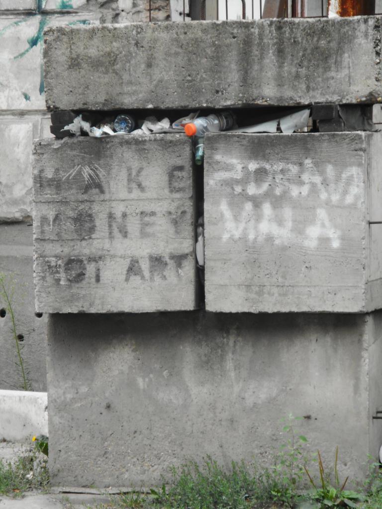 Stencil, Stari Grad: Make money not art. grafit graffiti street art beograd belgrade stencil marker paste ulična umetnost sprej.