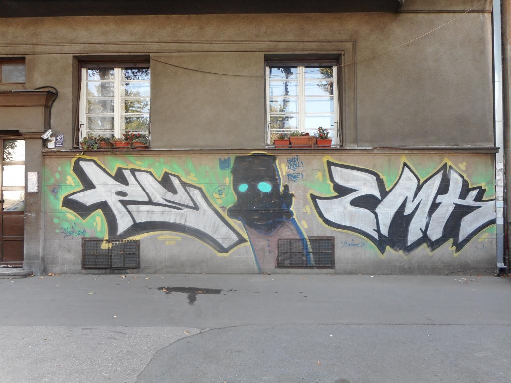 Grafit, Dorćol: Duh 2. grafit graffiti street art beograd belgrade stencil marker paste ulična umetnost sprej.