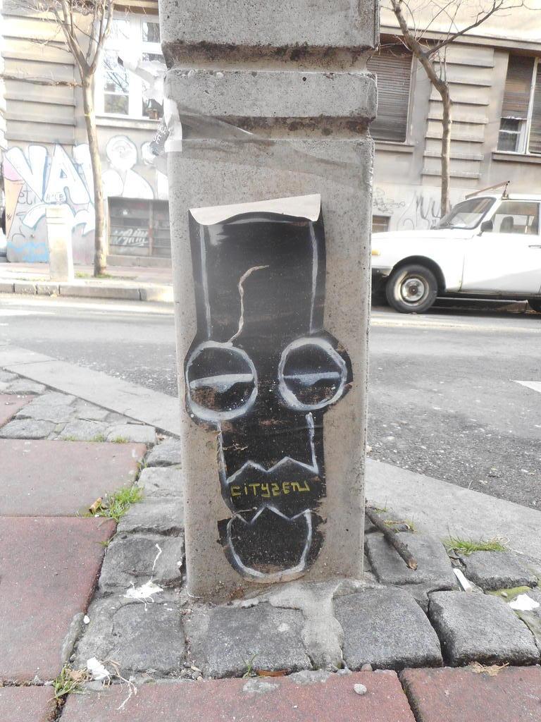 Paste-UP, Stari Grad: Građanin. grafit graffiti street art beograd belgrade stencil marker paste ulična umetnost sprej mural zid.