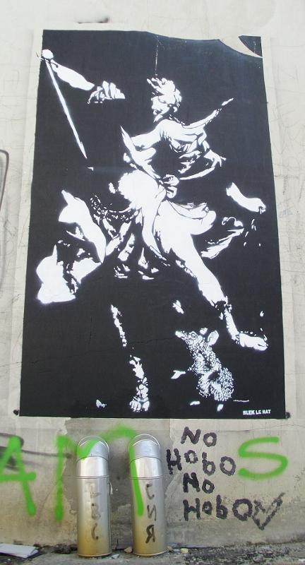Paste-UP, Stari Grad: Blek le Rat. Beograd.