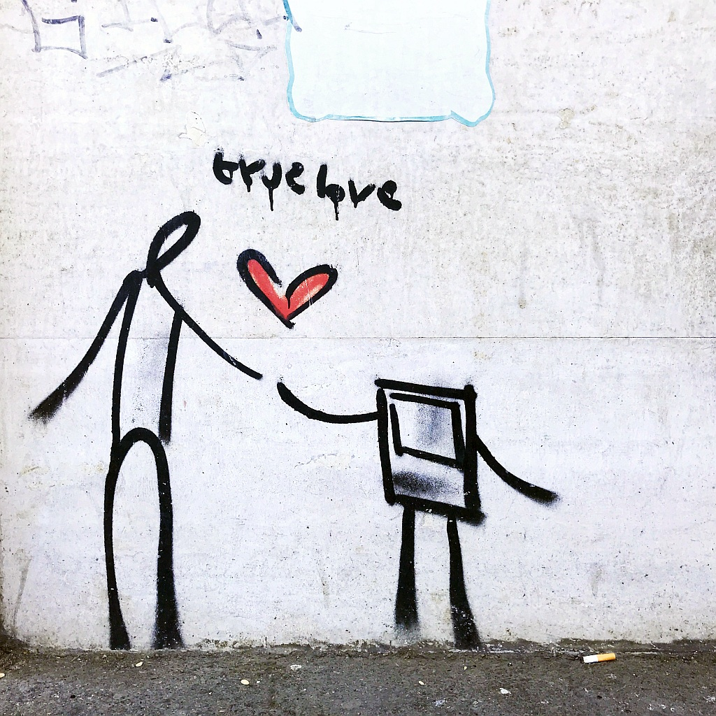 Grafit, Prenestino: true love. Exit.Enter.K. Graffiti. Rome. Italy.
