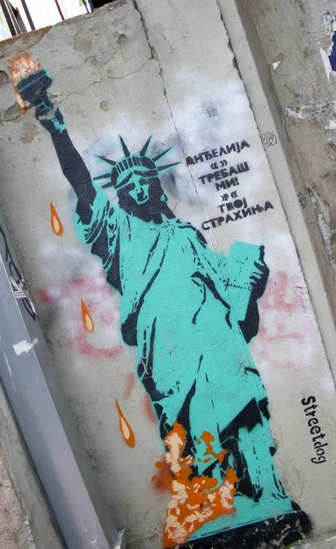 Stencil, Stari Grad: StreetDog. Beograd. StreetDog.