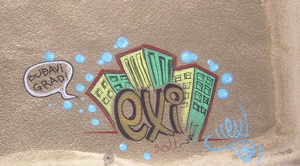 Grafit, Belgrade: Buđavi grad. Beograd. exi.