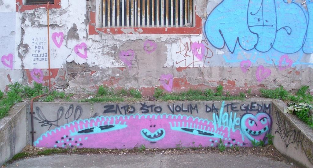 Grafit, Dorćol (historical): Zato što volim da te gledam. Beograd.