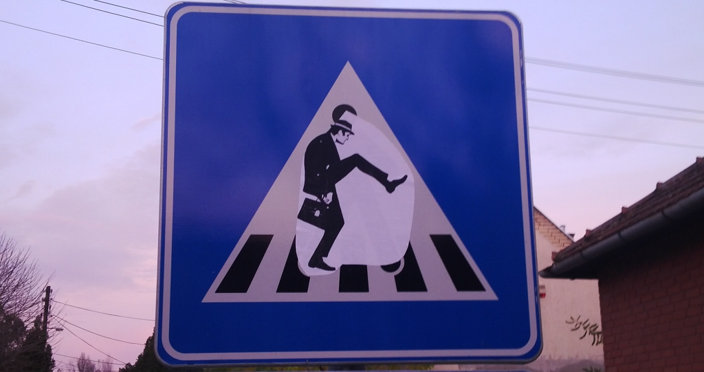 Paste-UP, Subotica: Ministry of Silly Walks.