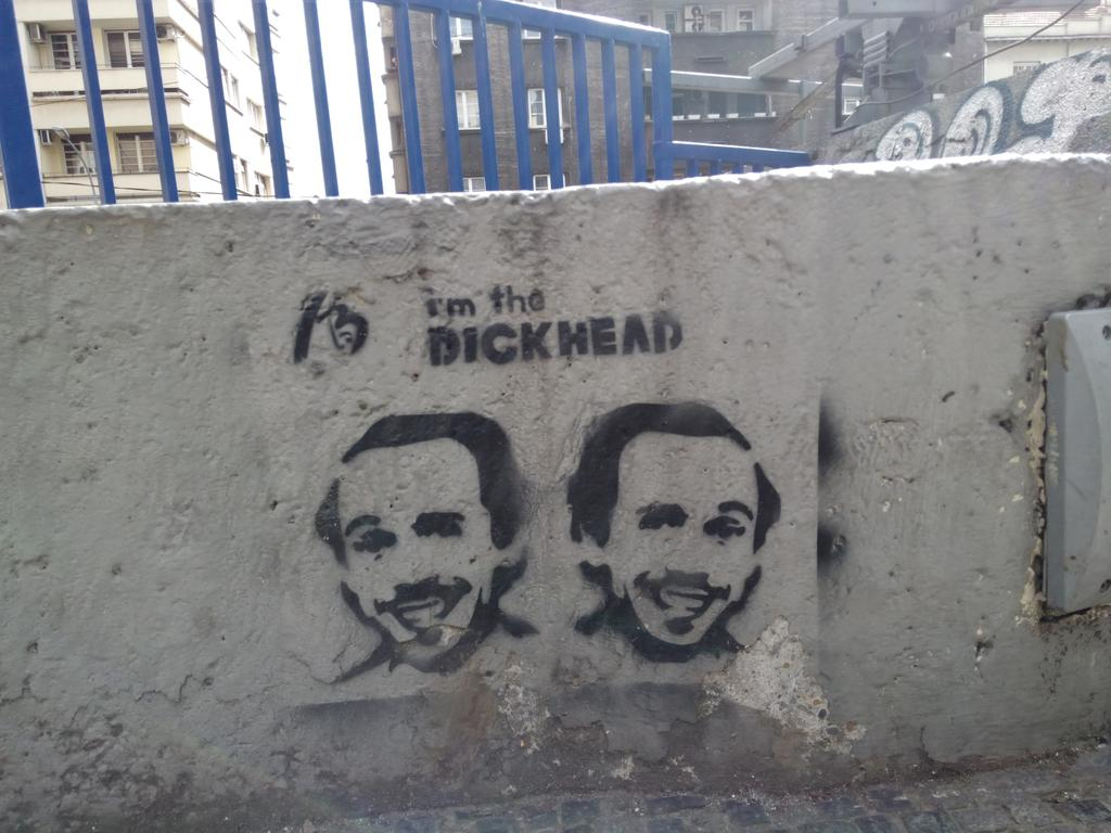 Stencil, Stari Grad: Dickhead. grafit graffiti street art beograd belgrade stencil marker paste ulična umetnost sprej mural zid.
