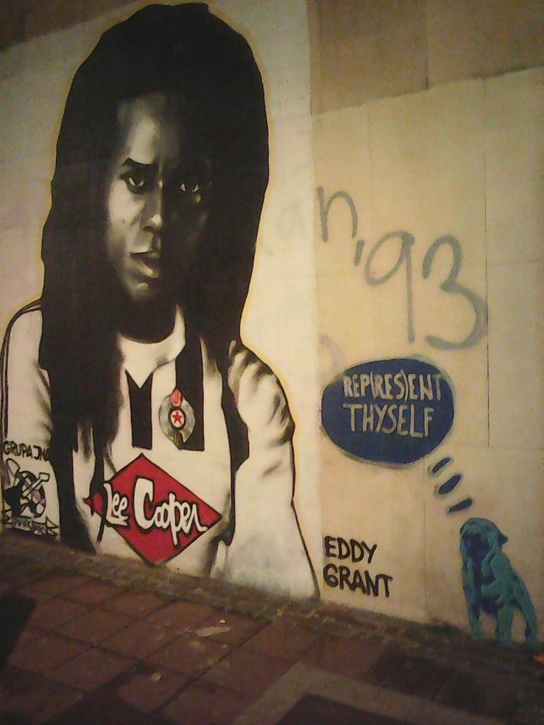 Grafit, Stari Grad: Eddy Grant. grafit street art beograd belgrade.