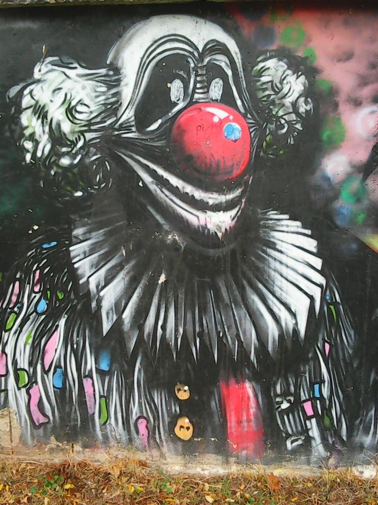 Grafit, Tošin Bunar: Clown2. grafit street art beograd belgrade.