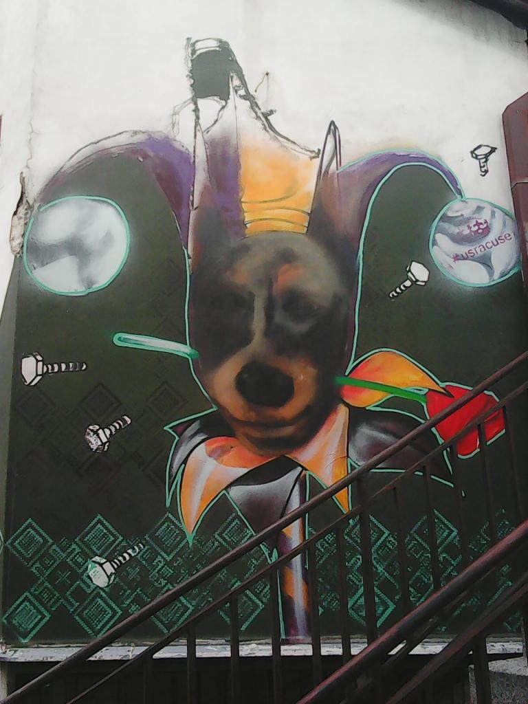 Grafit, Tošin Bunar: Pas 2. grafit graffiti street art beograd belgrade stencil marker.