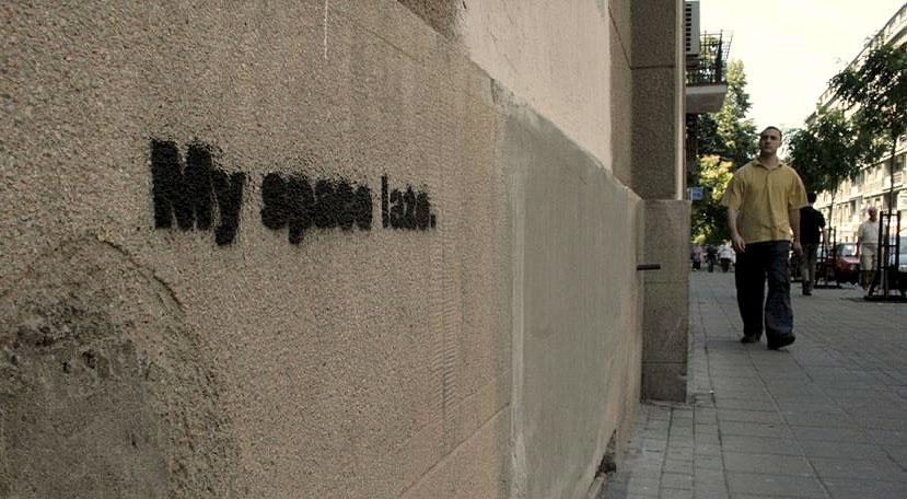 Stencil, : Myspace laže. Beograd.