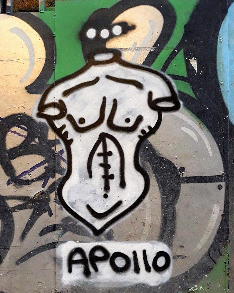 Grafit, Athens: Apollo. Graffiti. athens.
