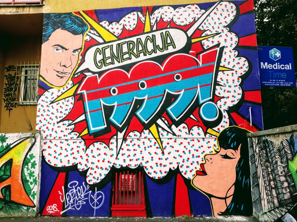 Grafit, Belgrade: Generacija 1999.. Lortek. Vračar. Beograd.