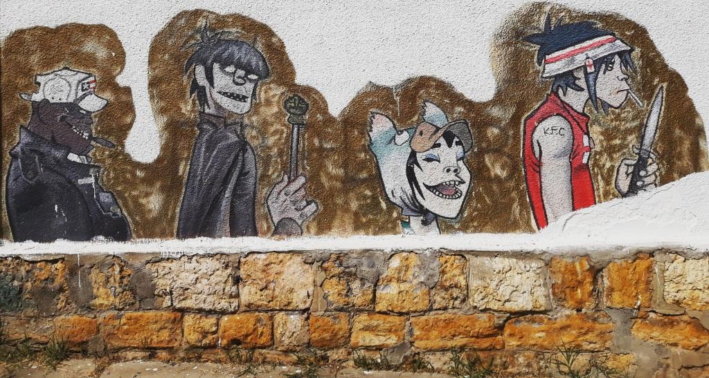 Grafit, Kragujevac: Gorillaz. Gorillaz. Graffiti. Kragujevac.
