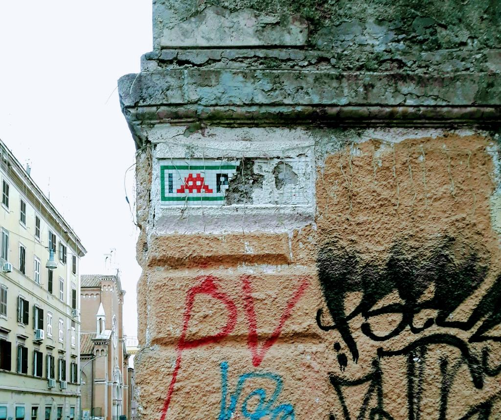 Paste-UP, Esquilino: Invader was in Rome. Invader was here. Space Invaders. Rome. Italy.