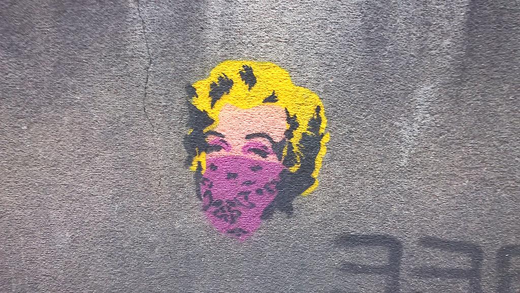 Stencil, Dorćol: Marilyn Monroe.