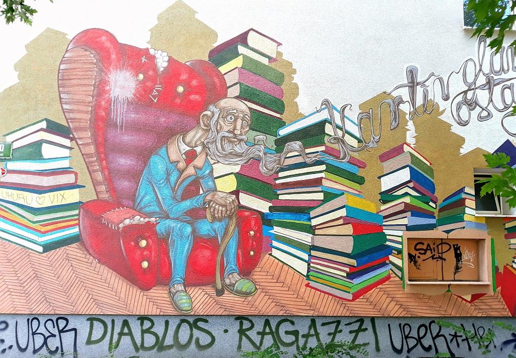 Grafit, Ljubljana: znanje je vrlina. Ljubljana. Slovenia.