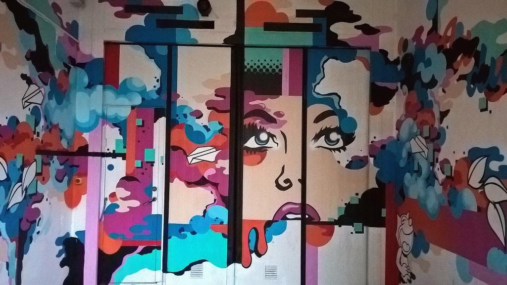 Stencil, Malmo: Pop Art. Malmo. Sweden.