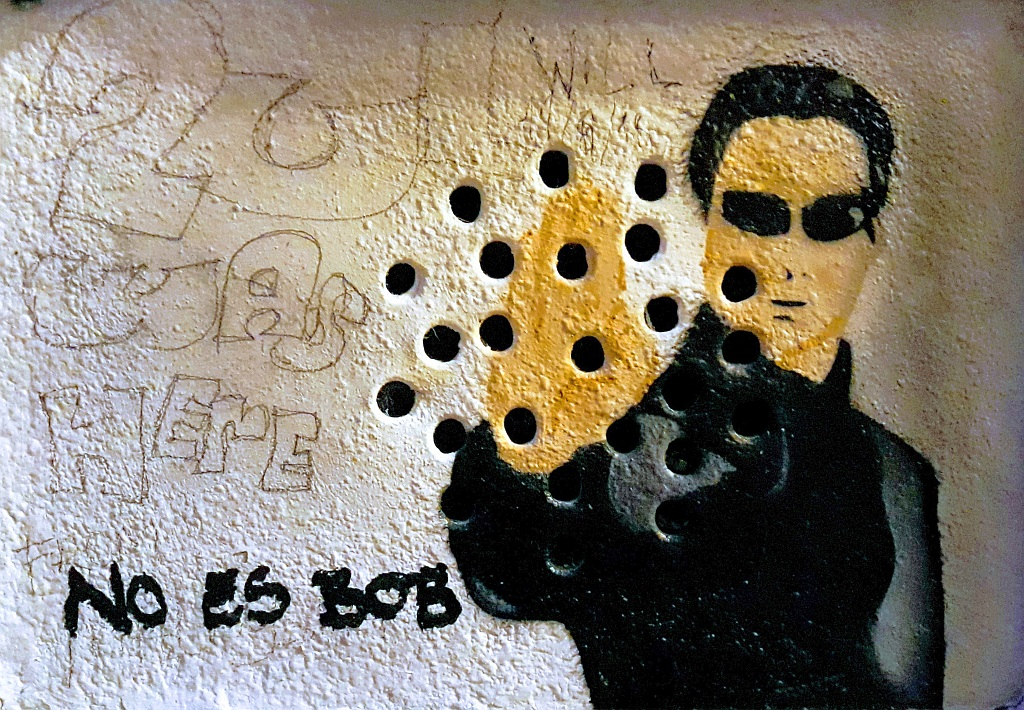 Stencil, Centar: Matrix. Oakoak. Zagreb. Croatia.