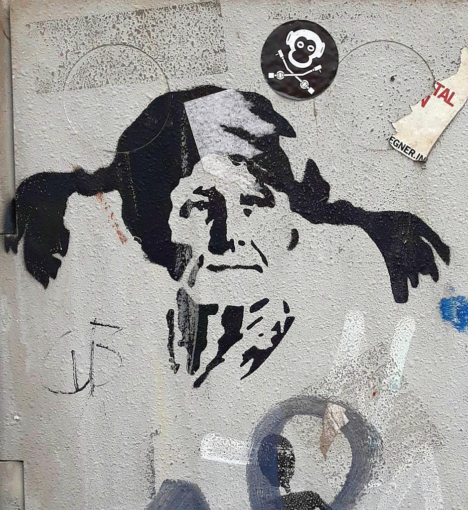 Stencil, Bonn: Pippi Longstocking. Bonn. Germany.