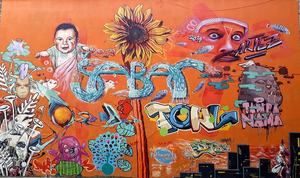 Grafit, Šabac: Pathway to Growth. Šabac. Graffiti. mural. Artez.