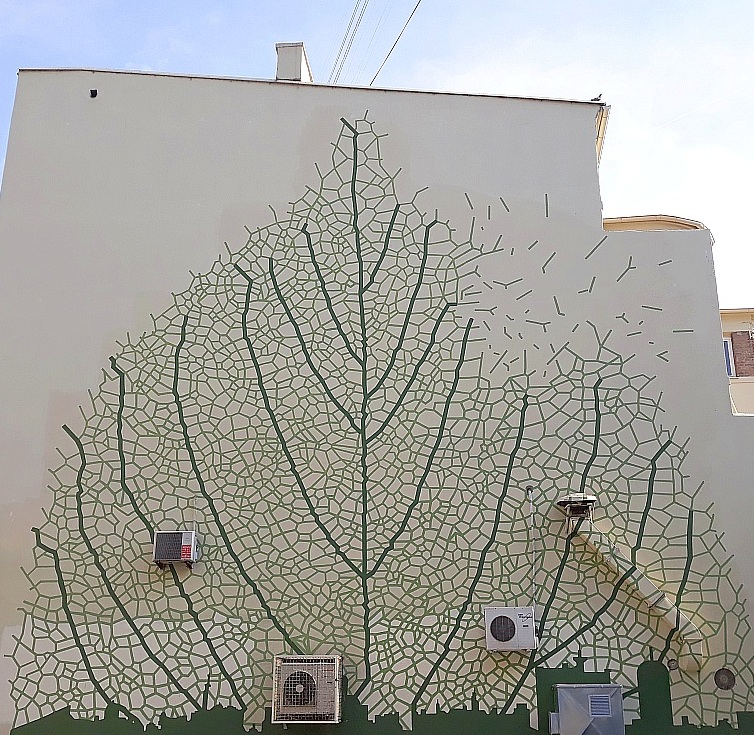 Grafit, Stari Grad: Green city. mural.