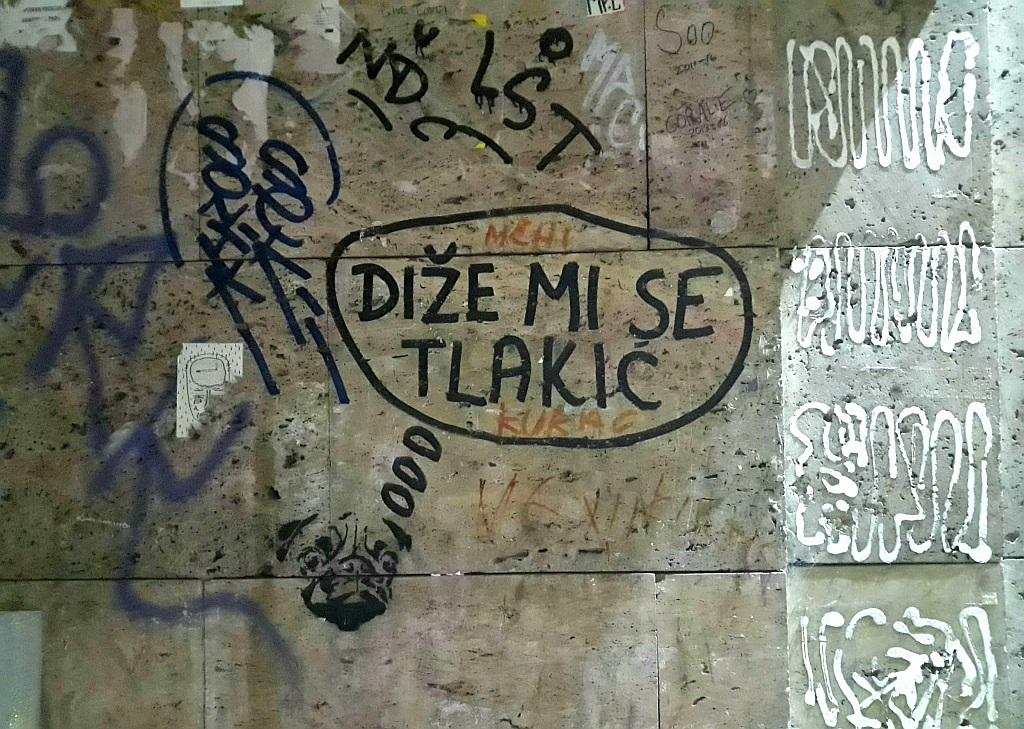 Marker, Šalata: Diže mi se tlakić. Inspektor Yoda Zgužvani. Zagreb. Croatia.